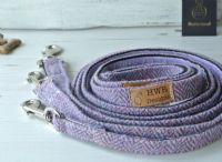 Harris Tweed Purple  Dog Lead.